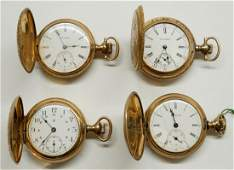 Four Ladies Antique Pocket Watches