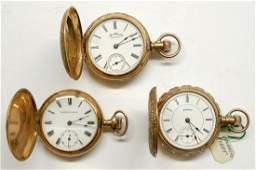 Three Ladies Antique Pocket Watches