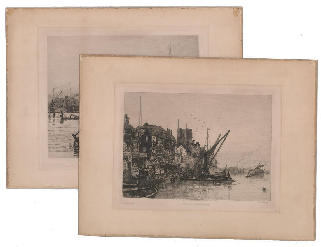 C. E. Holloway Prints [Marine, Churches]