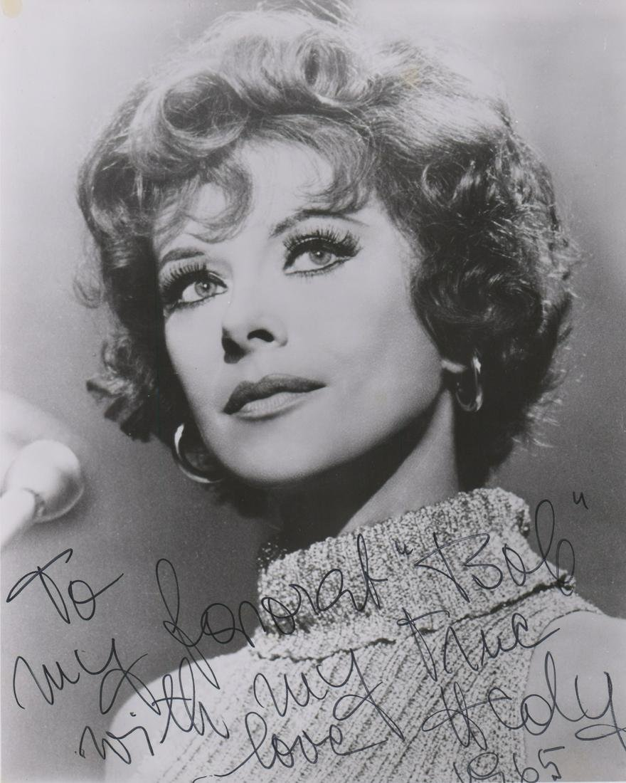 Hedy Lamarr Inscribed Photo to Robert Osborne