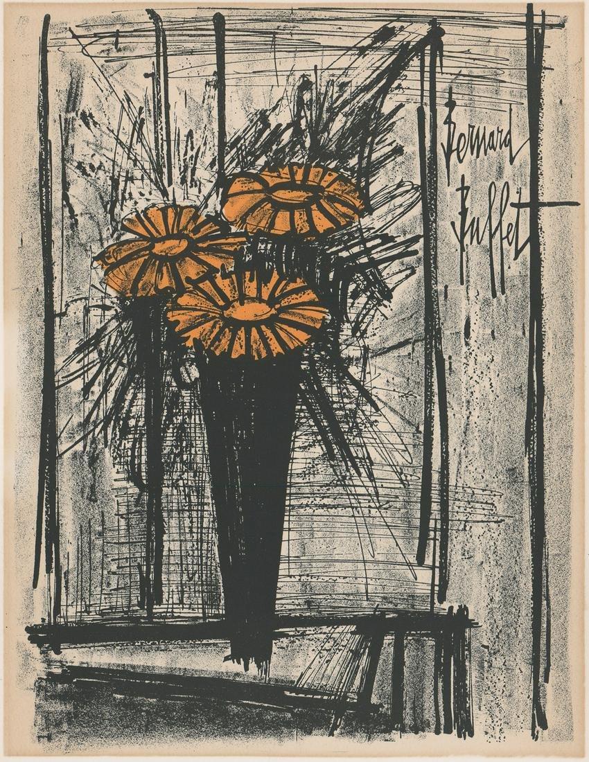 Bernard Buffet Lithograph [Modern, Floral]
