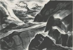 Alice Harold Murphy Lithograph [WPA, Ocean View]