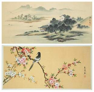 Asian Signed Scroll Paintings 2