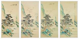 Asian Signed Scroll Paintings 4