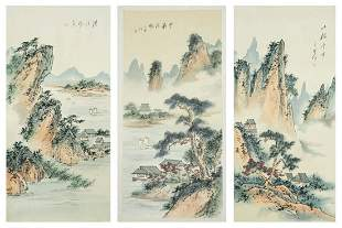Asian Signed Scroll Paintings 3