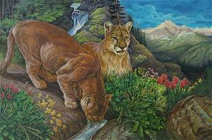Sven Lindauer Large Original Oil Painting
