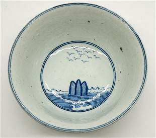 Old Chinese Blue and White Bowl