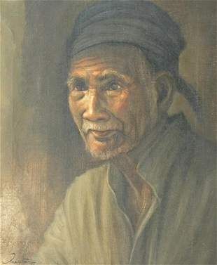 Indonesian Signed Original Oil Painting