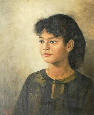 Indonesian Illegibly Signed Oil Painting