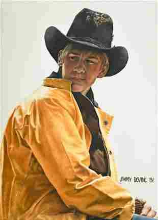 Jimmy Devine Framed Original Oil Painting