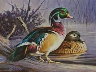 Jim Killen b1934 Framed Original Watercolor