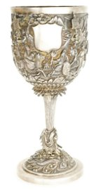 Sunshing Chinese Silver Goblet