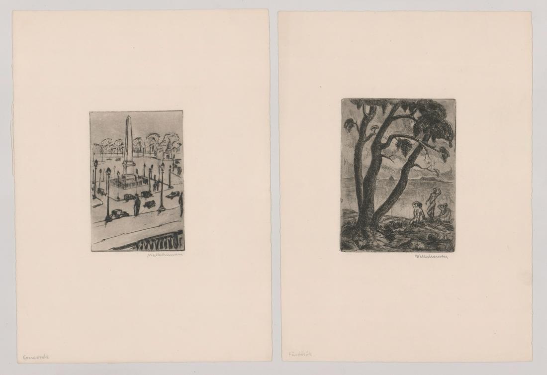 Zsigmond Walleshausen Etching [Landscapes]