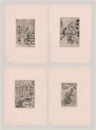 Zsigmond Walleshausen Etching Landscapes