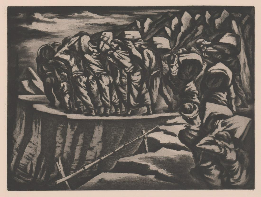 Unsigned Aquatint/Etching [Mountain Path]