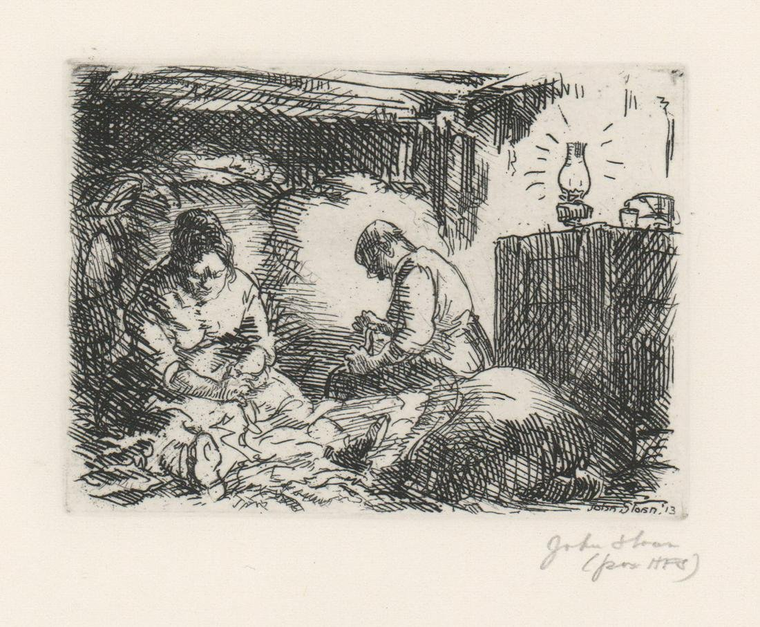 John French Sloan Etching [Workers]
