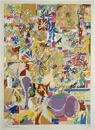 Yona Lotan Lithograph Abstract