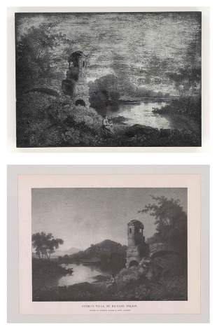 After Richard Wilson Engraving wPlate Italy COA