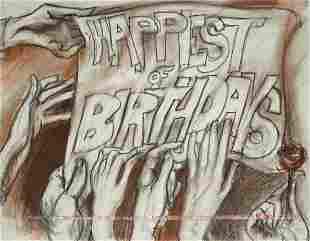 Original Artwork Happy Birthday