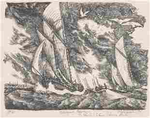 Mark Whitcombe Print Boats