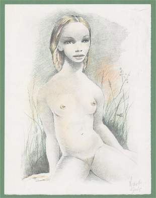 Mariette Lydis Lithograph Nude