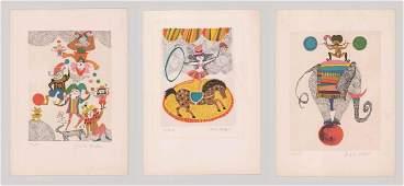 Judith Bledsoe Lithographs [Modern, Circus]