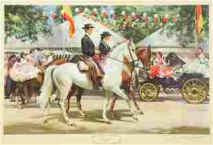 Frank Wooton Limited Edition Print Horses