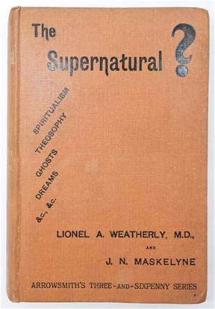The Supernatural by Weathley 1891