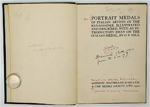 Portrait Medals Authors Proof G F Hill 1912