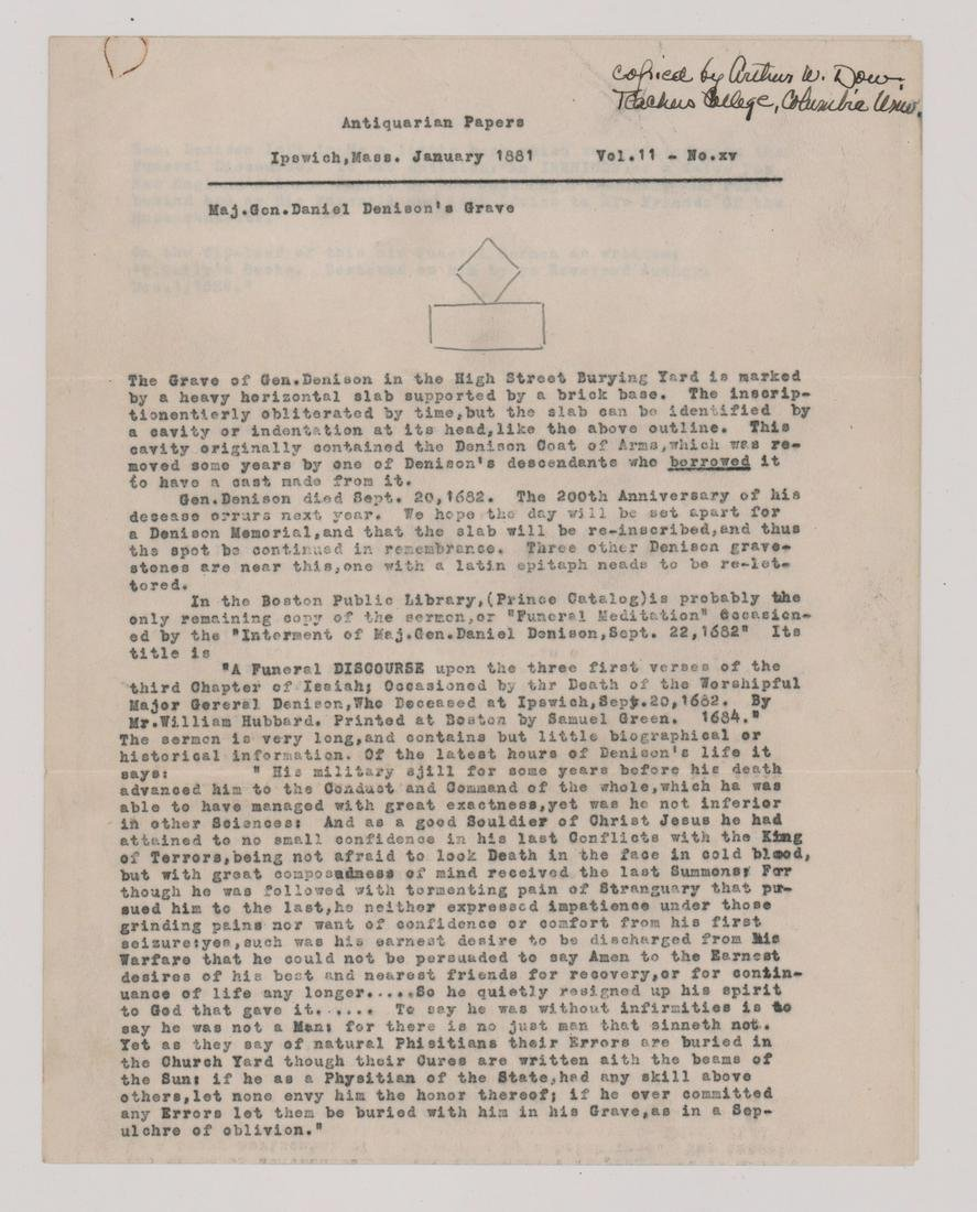 Arthur Wesley Dow ALS Typed Signed Letter