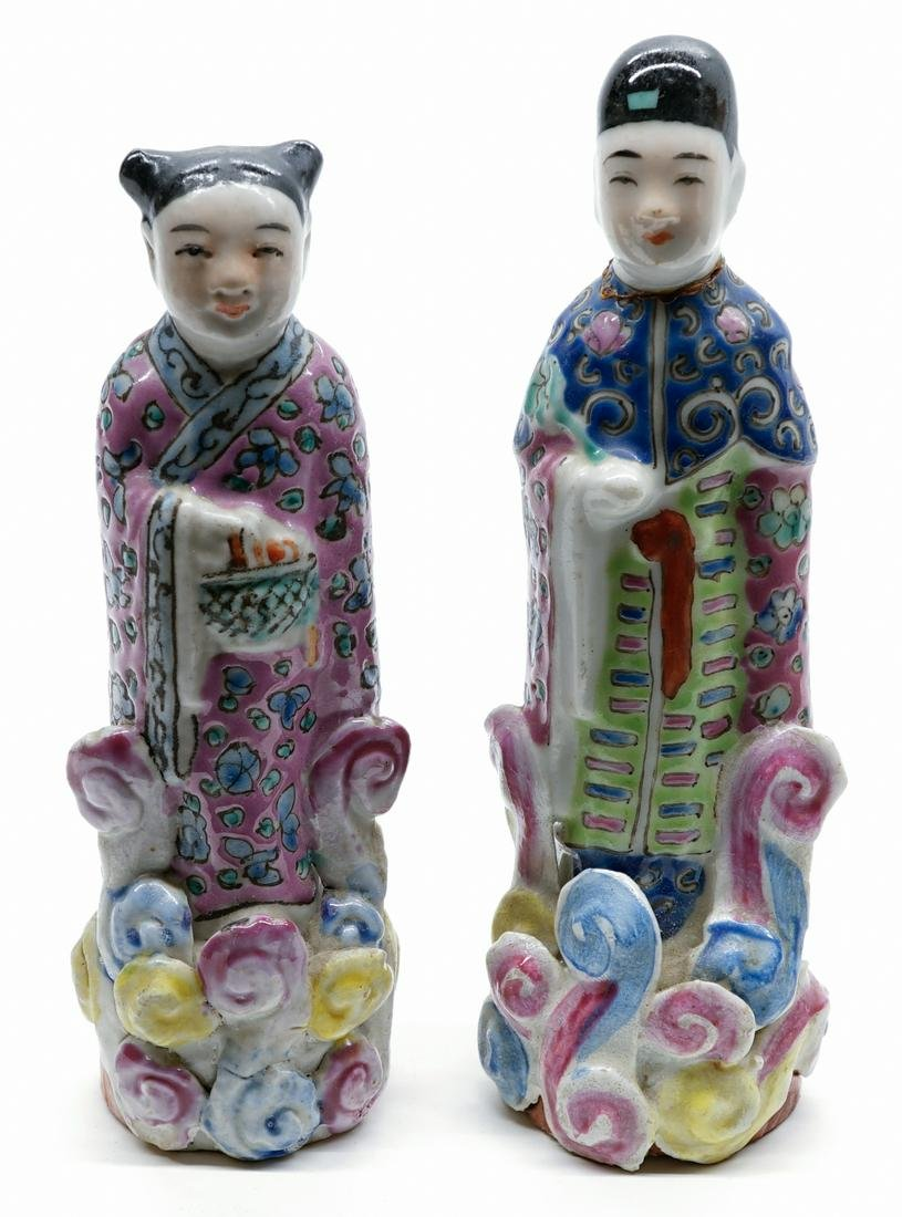 A Pair of Old Chinese Figures