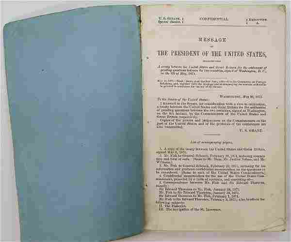 US and England Treaty May 8, 1871