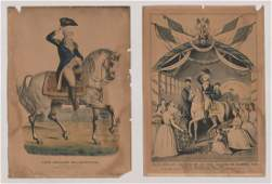 Nathaniel Currier Colored Lithos [G. Washington]