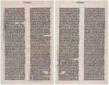 Illuminated Manuscript on Vellum [Antique Text]