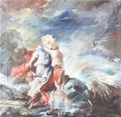 Hilde Kayn (Ohio 1903-1950) Large Oil Painting