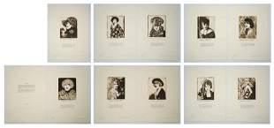 Ann Chernowk Etchings [Women, Reverie]