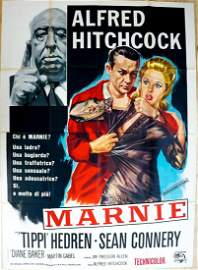 Alfred Hitchcock Marnie Italian Movie Poster