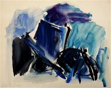 Jose Guerero Signed Original Watercolor on Paper