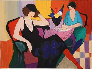 Itzchak Tarkay Offset Lithograph [Marie and Susie]