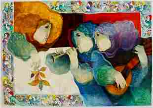 Sunol Alvar Color Lithograph on Wove Paper
