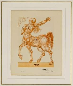 Salvador Dali Signed and Numbered Woodcut