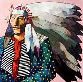 Thom Ross (b.1952, Montana) Large Mixed Media