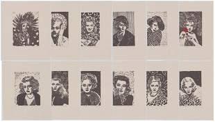 Ann Chernow American Beauties Set of (12) Prints