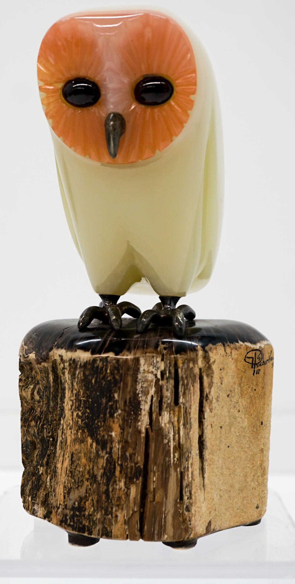Harry Richardson Onyx/Garnet/Silver/Petrified Wood