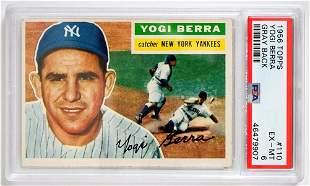1956 Topps Yogi Berra 110 PSA 6 EXMT