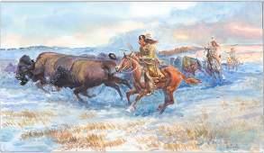 Dave Powell Original Watercolor [Native Americana]