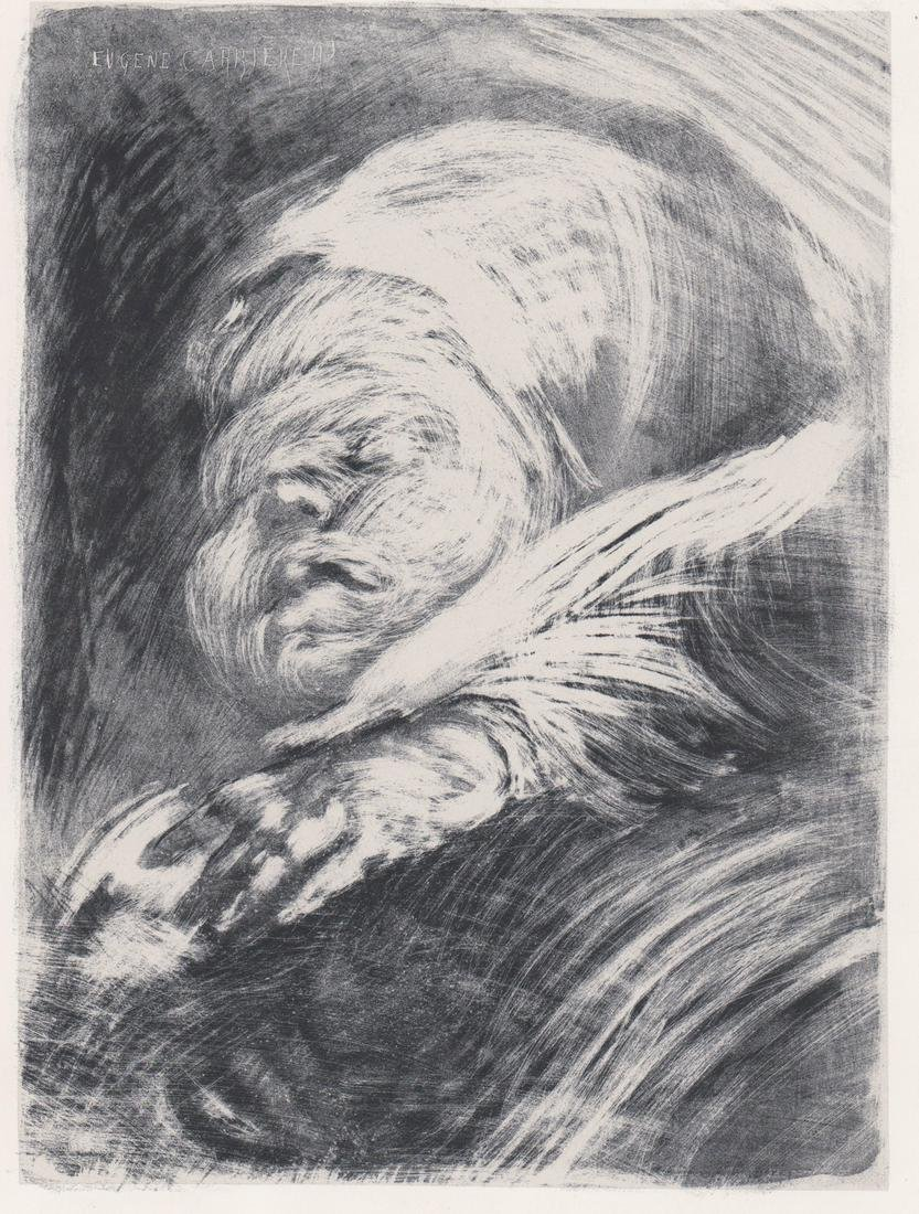 Eugene Carriere Chine-Colle Lithograph [Infant ]