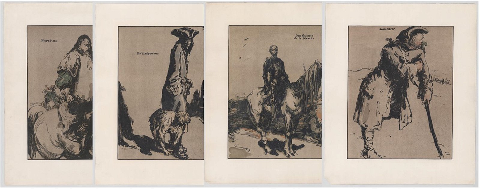 William Nicholson Lithographs [Fiction Characters]