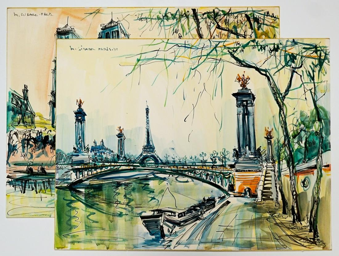 Marius Girard Watercolors [Paris]