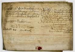 1727 Rev. George Stanhope Large Indenture